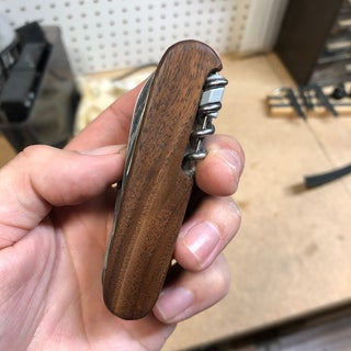 Making Custom Wooden Scales for 91mm Victorinox SAK, Using a CNC Router