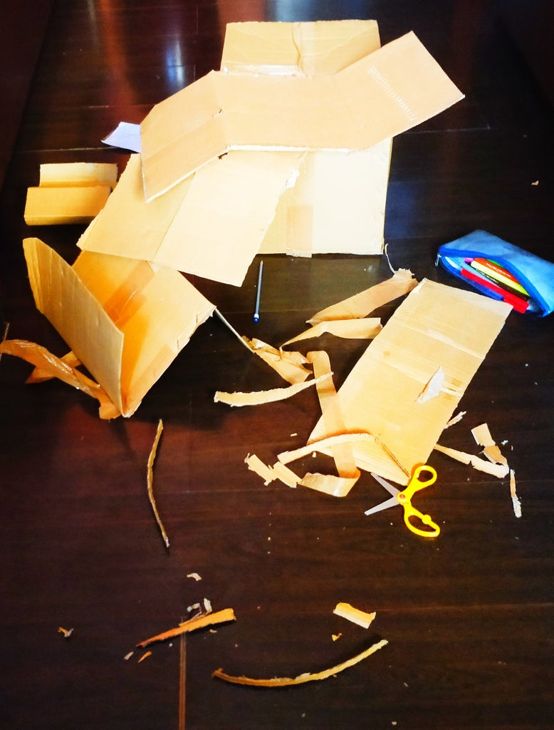 Cutting Cardboards and Creating a Mess