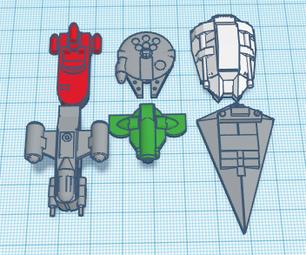 Pocket Sized Star Wars Ships