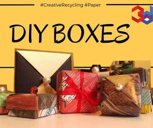 DIY Gift Boxes (#CreativeRecycling #Paper)