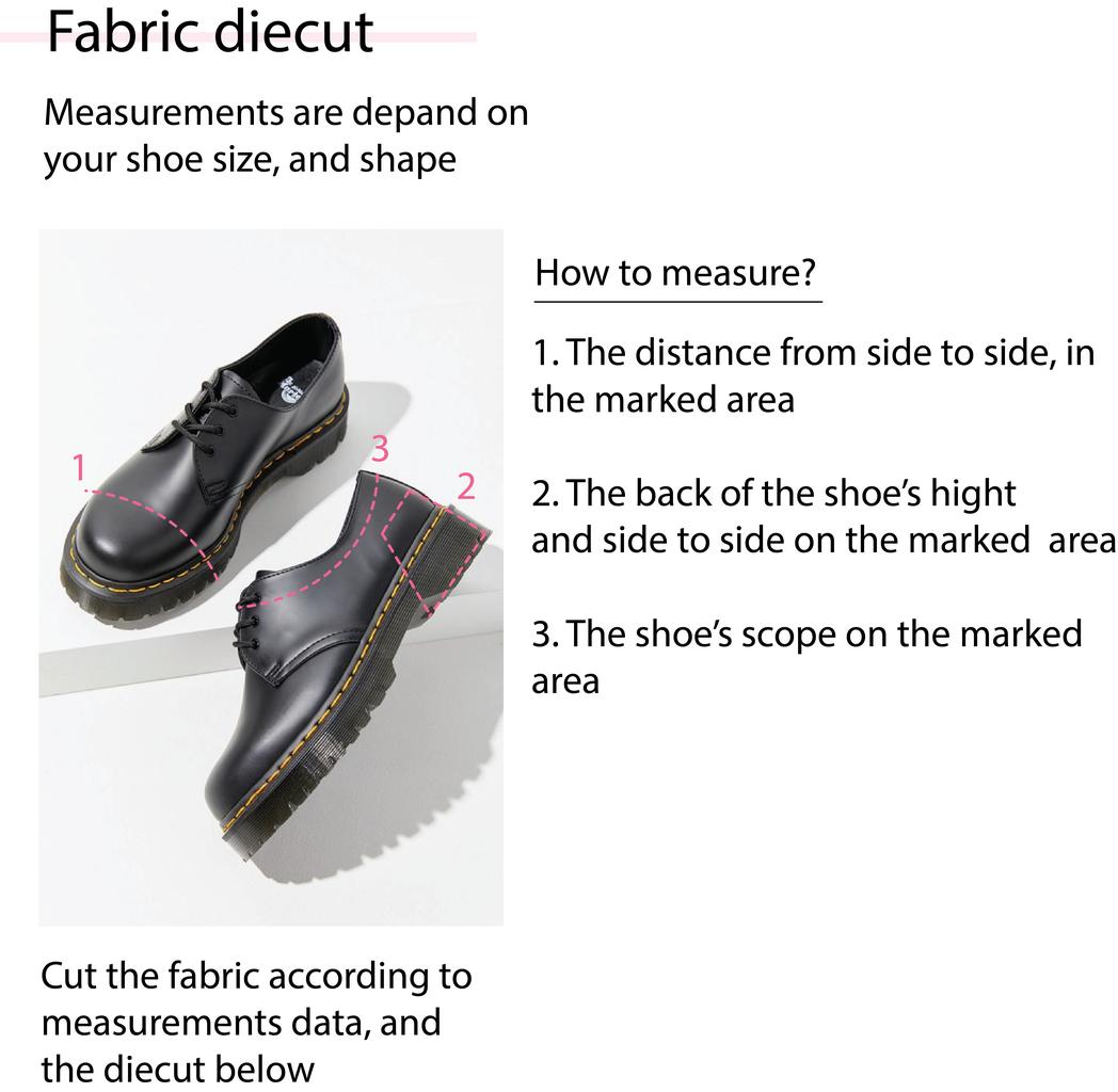 Fabric Diecut Measurements