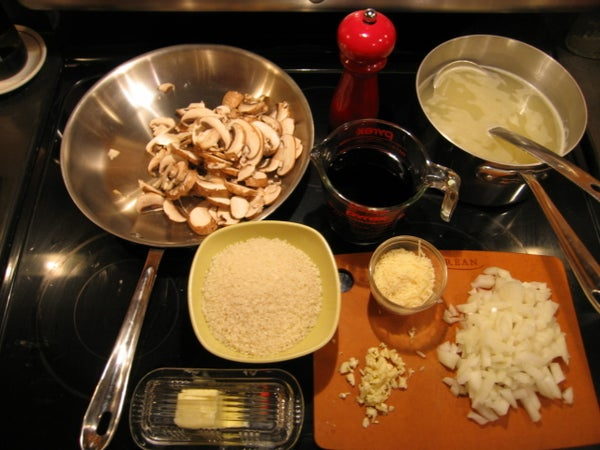 Red Wine Risotto With Mushrooms