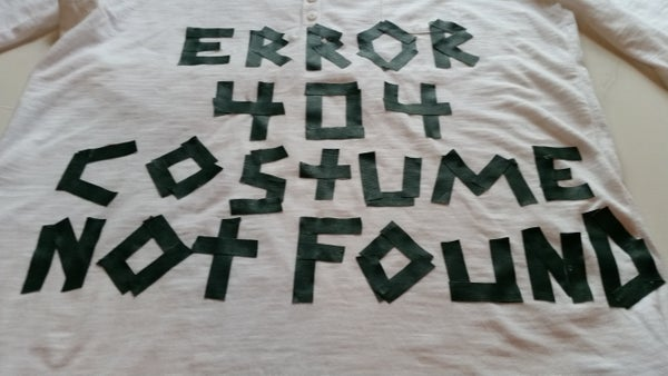Halloween Costume: Error 404