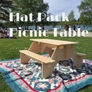 Flat-Pack Picnic Table From 1 Sheet of Plywood