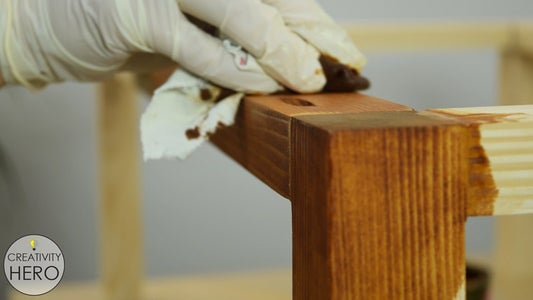 Staining the Bottom of the Table.