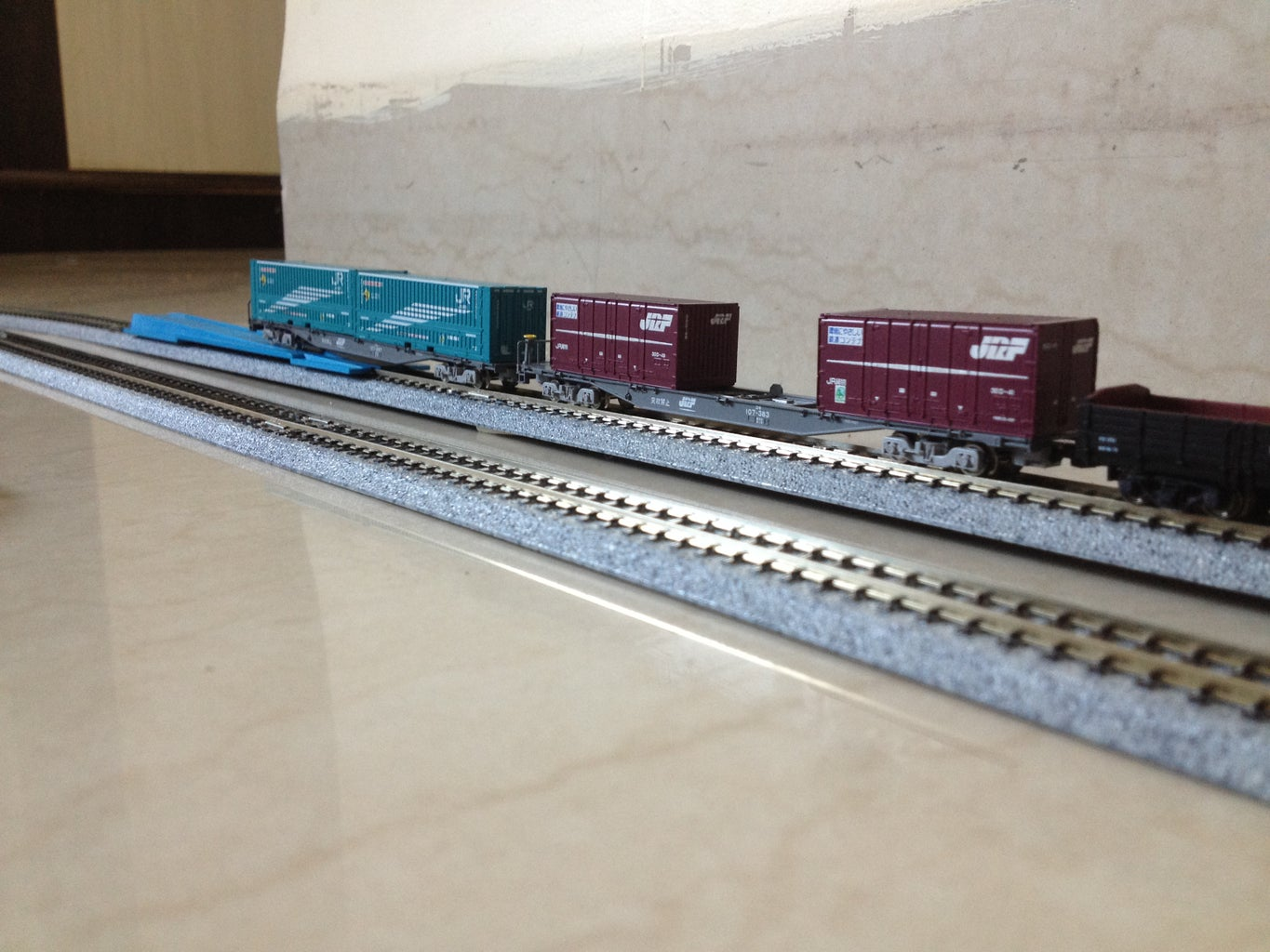 Place the Rolling Stock and the Locomotive on the Tracks