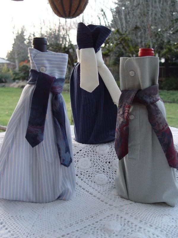 Shirt Sleeve Wine Bottle Bags