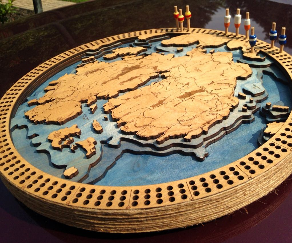 Creating Custom 3D Cribbage Boards With a Laser Cutter!