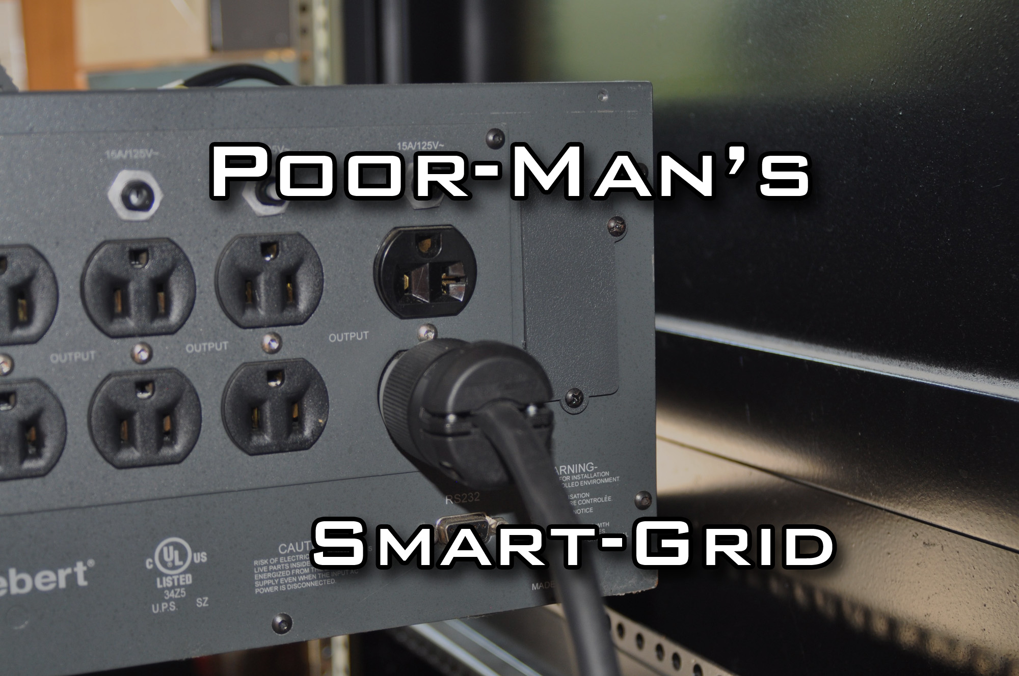 Poor-Mans Smart-Grid - Blackout Protection by UPS and Electric Motorcycle