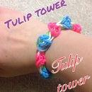 Rainbow Loom Tulip Tower
