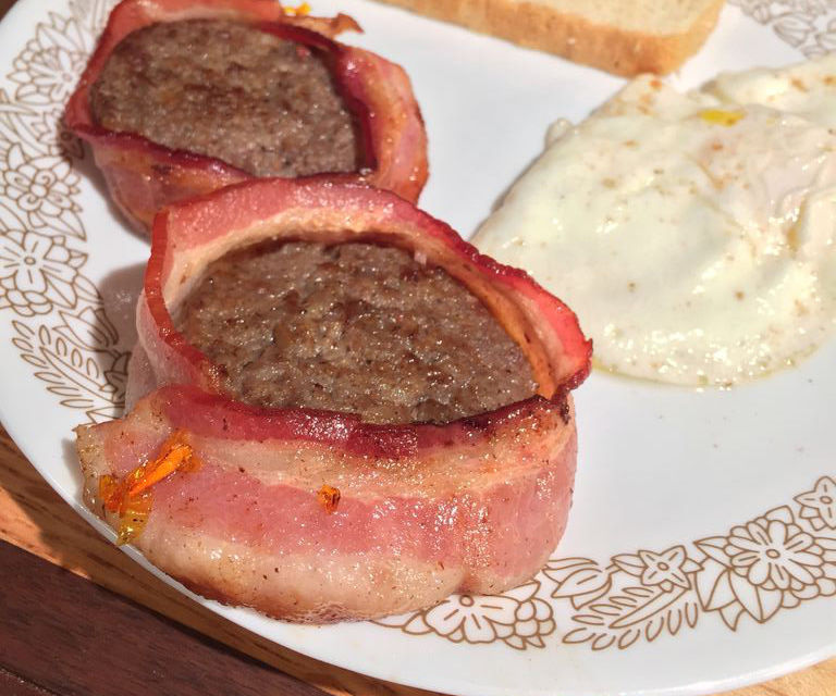Bacon Wrapped Breakfast Sausage