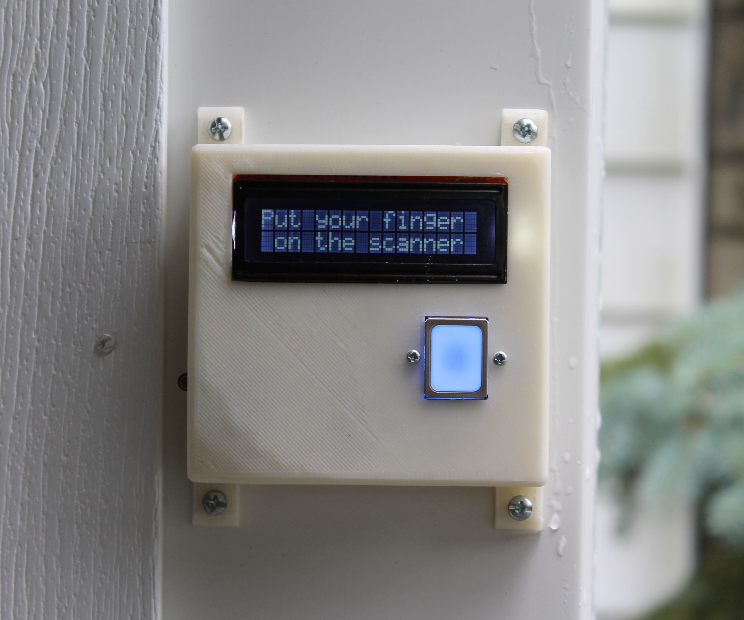 DIY Fingerprint Scanning Garage Door Opener