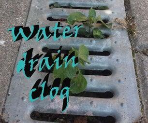 Clogged Water Drain