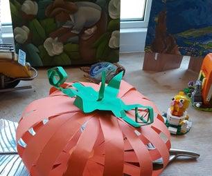 How to Make a Paper Pumpkin
