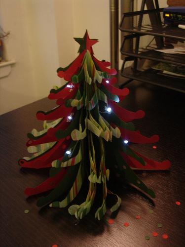 Twinkle Christmas Tree 3D Greeting Card