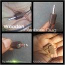 Wooden Earphones Plug