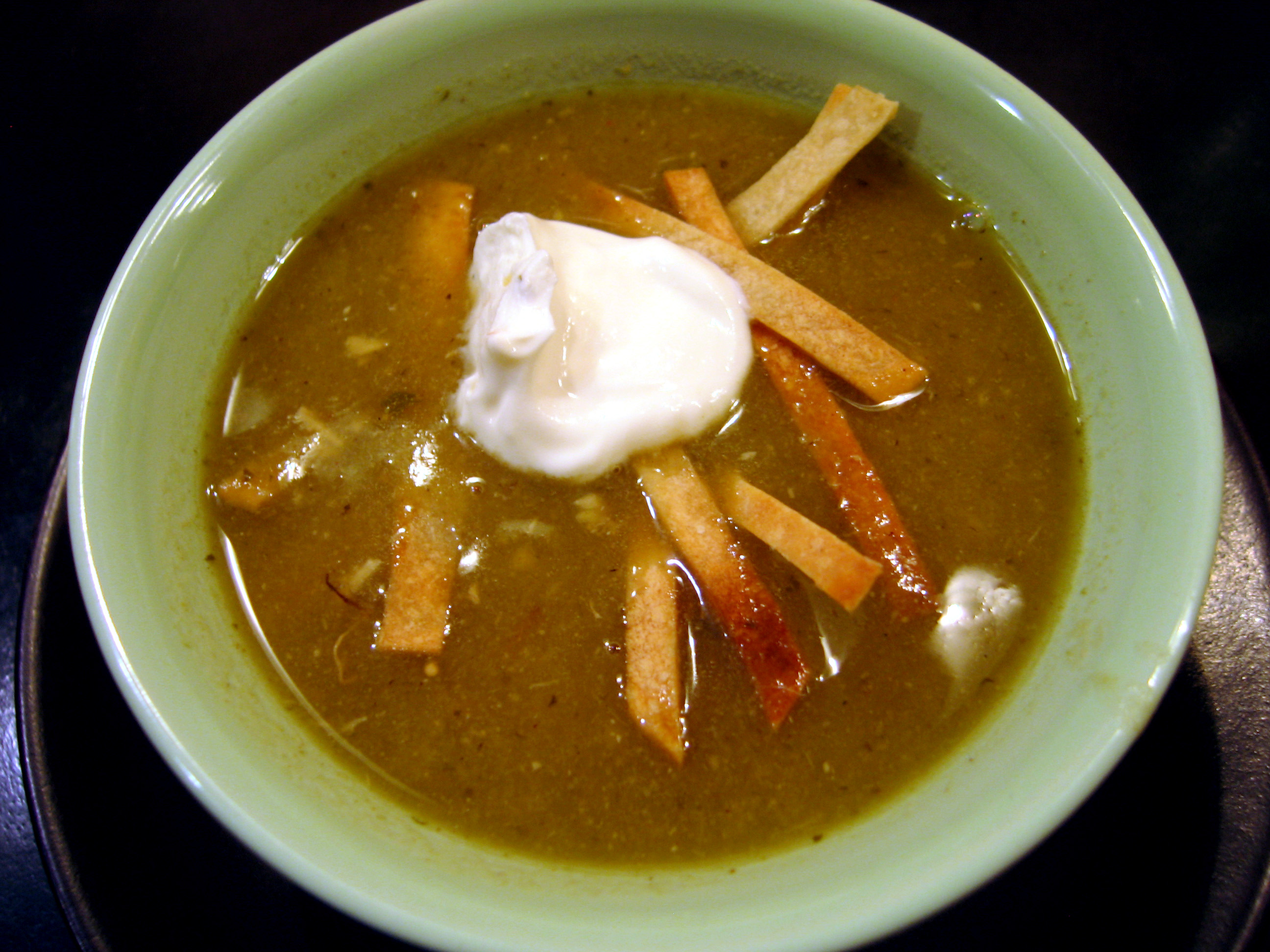 Chicken, Green Chile, Tortilla Soup