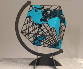Spinning Paper Cube Globe
