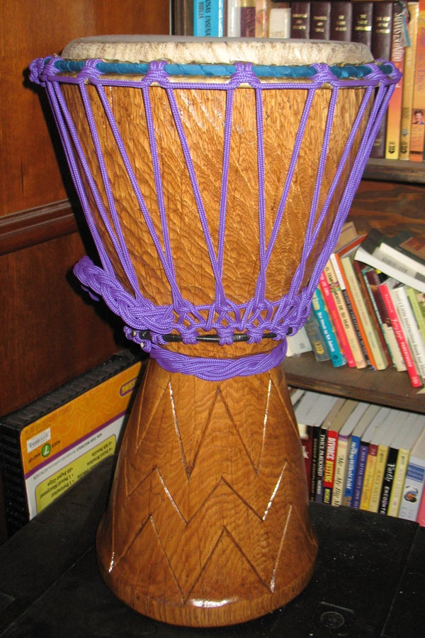 Homemade Djembe African Hand Drum