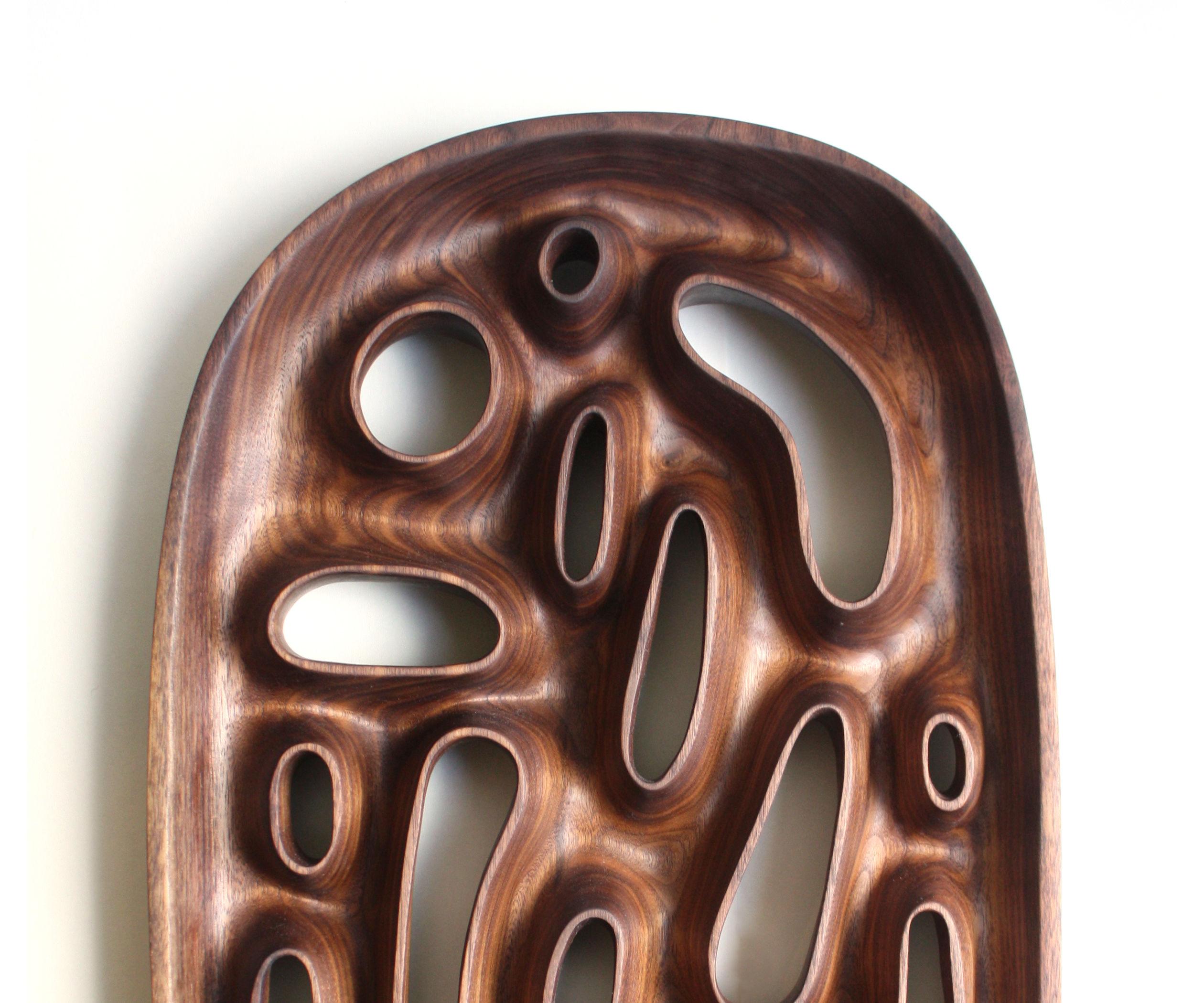 Hand Carved Sculptural Wooden Bowl