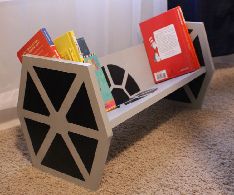 DIY Star Wars TIE Fighter Bookshelf