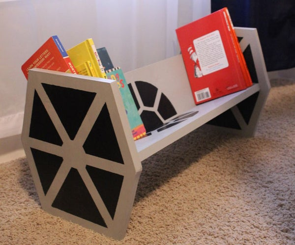 DIY Star Wars TIE Fighter Bookshelf