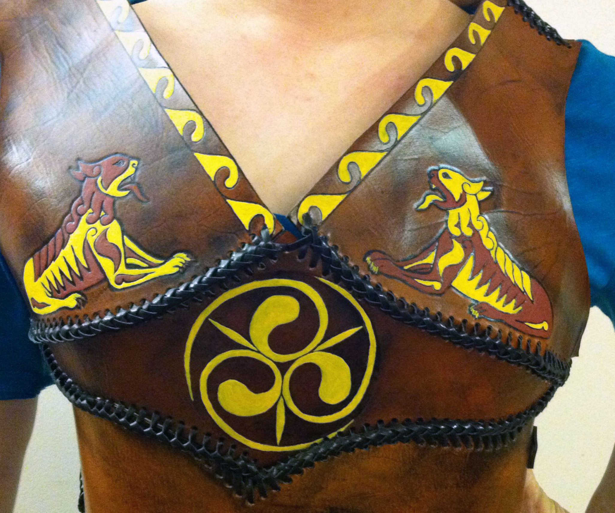 Custom Fit Leather Armor Breast Plate Celtic Edition