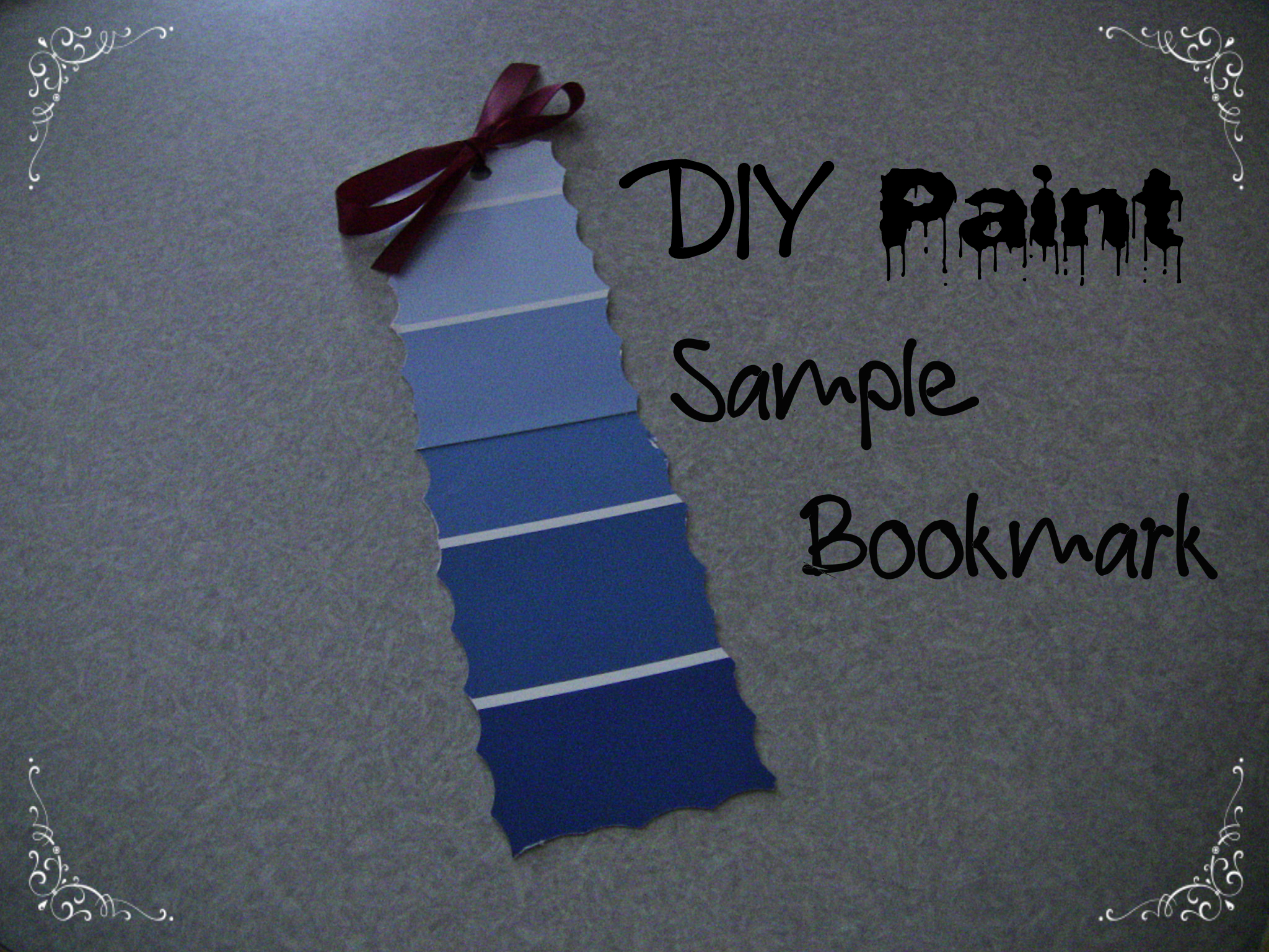 DIY Paint Sample Bookmark