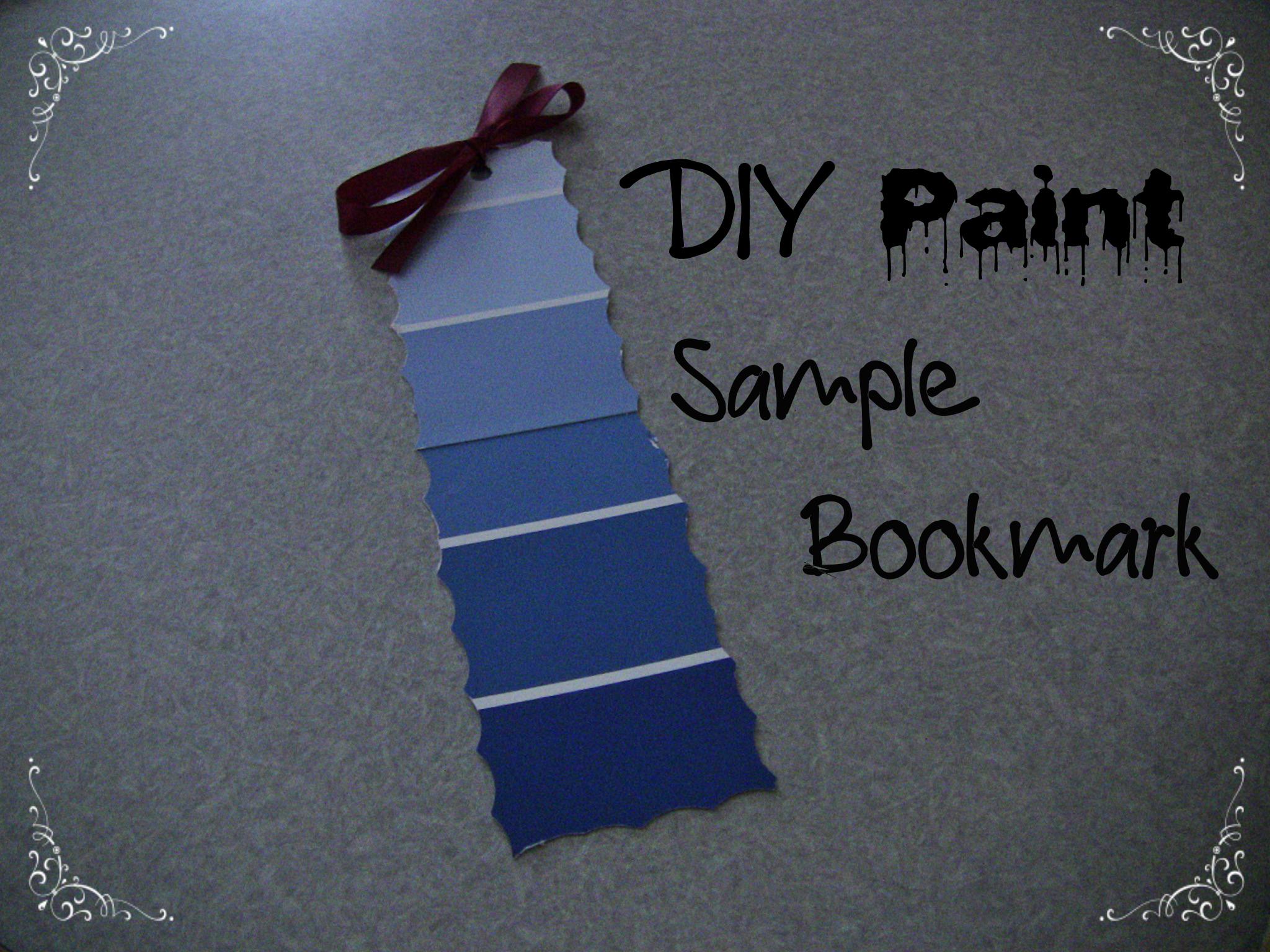 DIY Paint Sample Bookmark