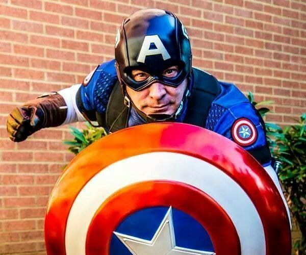 Custom Made Captain America Helmet