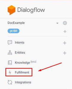 Dialogflow - Fulfillment: