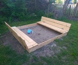 Sandbox Lid With Bench (Zandbak Deksel Met Bankje)