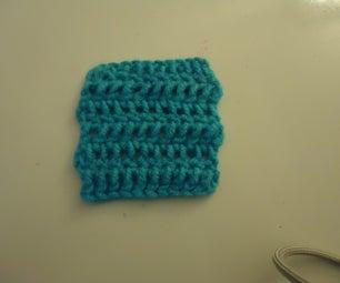 Second Beginner Crochet Project: Double Crochet Square