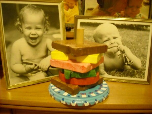 Sandwich Stacking Toy/Coaster Set
