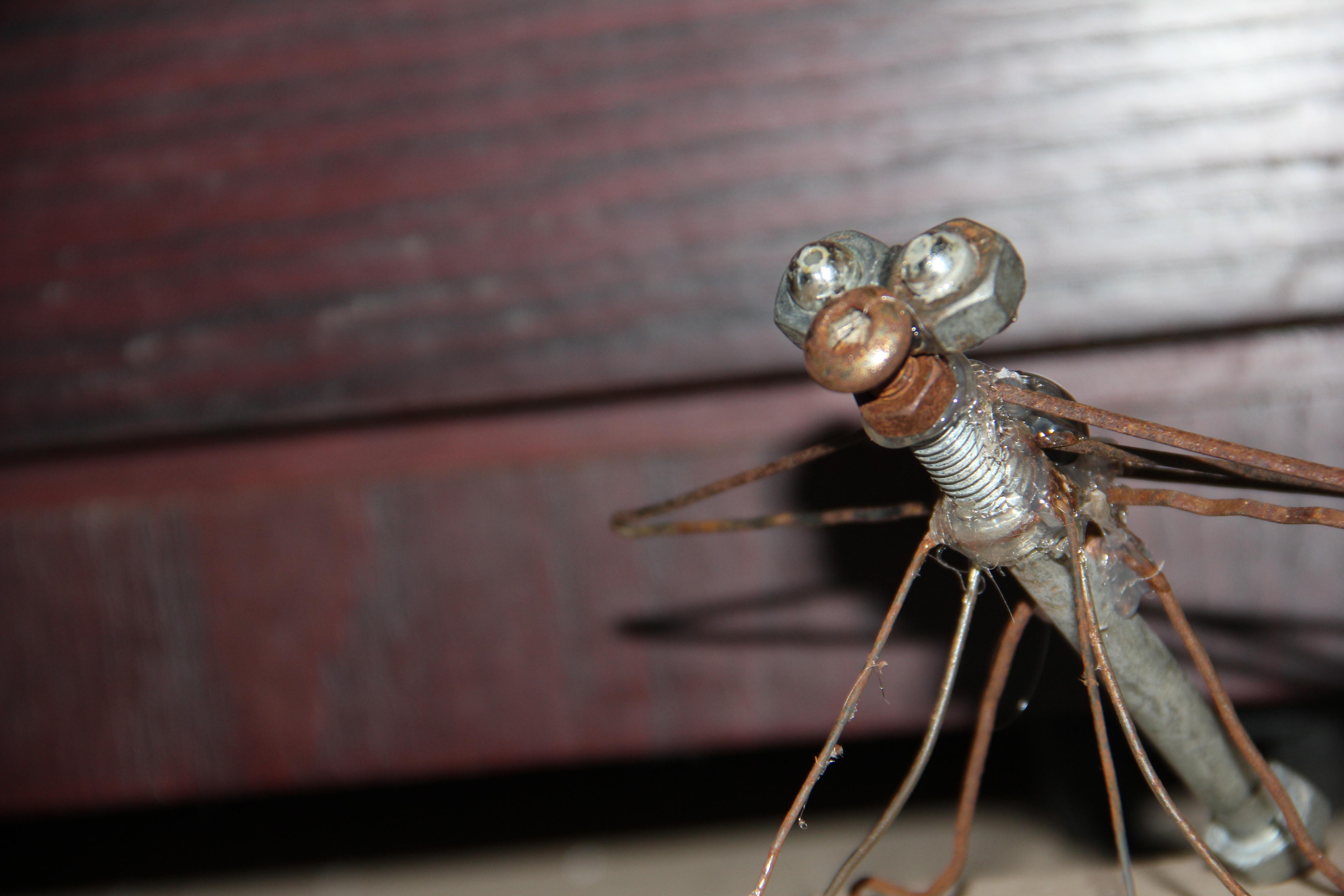 ~*NO WELDING OR SOLDERING*~ scrap metal dragonfly