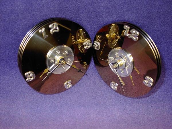 Hard Drive Platter Clock.