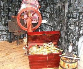 Animated Pirate Ship's Wheel