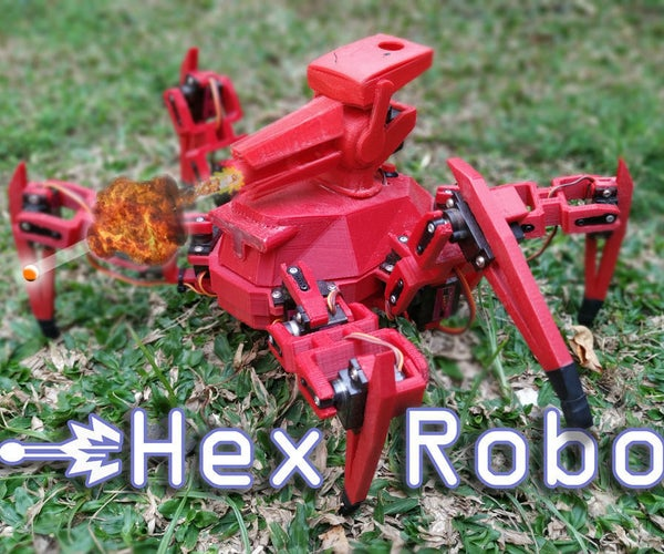 Hex Robo V1 (with Cannon)