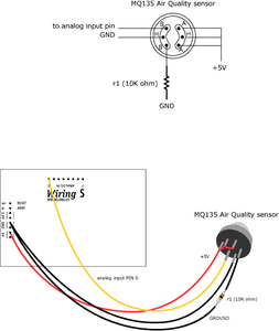 MQ Sensors Wiring