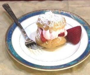 Strawberry Filled Homemade Cream Puffs