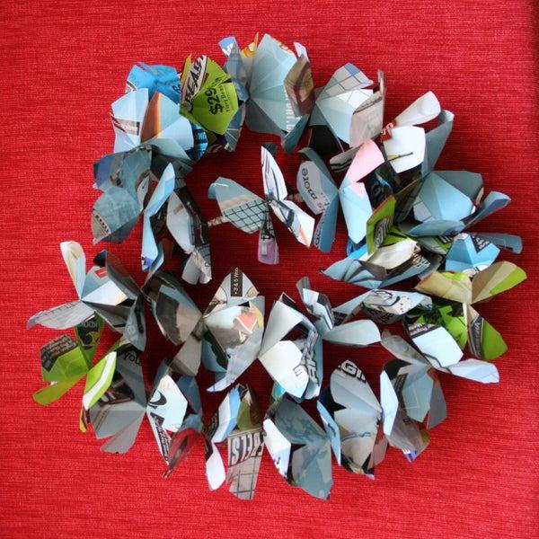Recycled Paper Hawaiian Lei