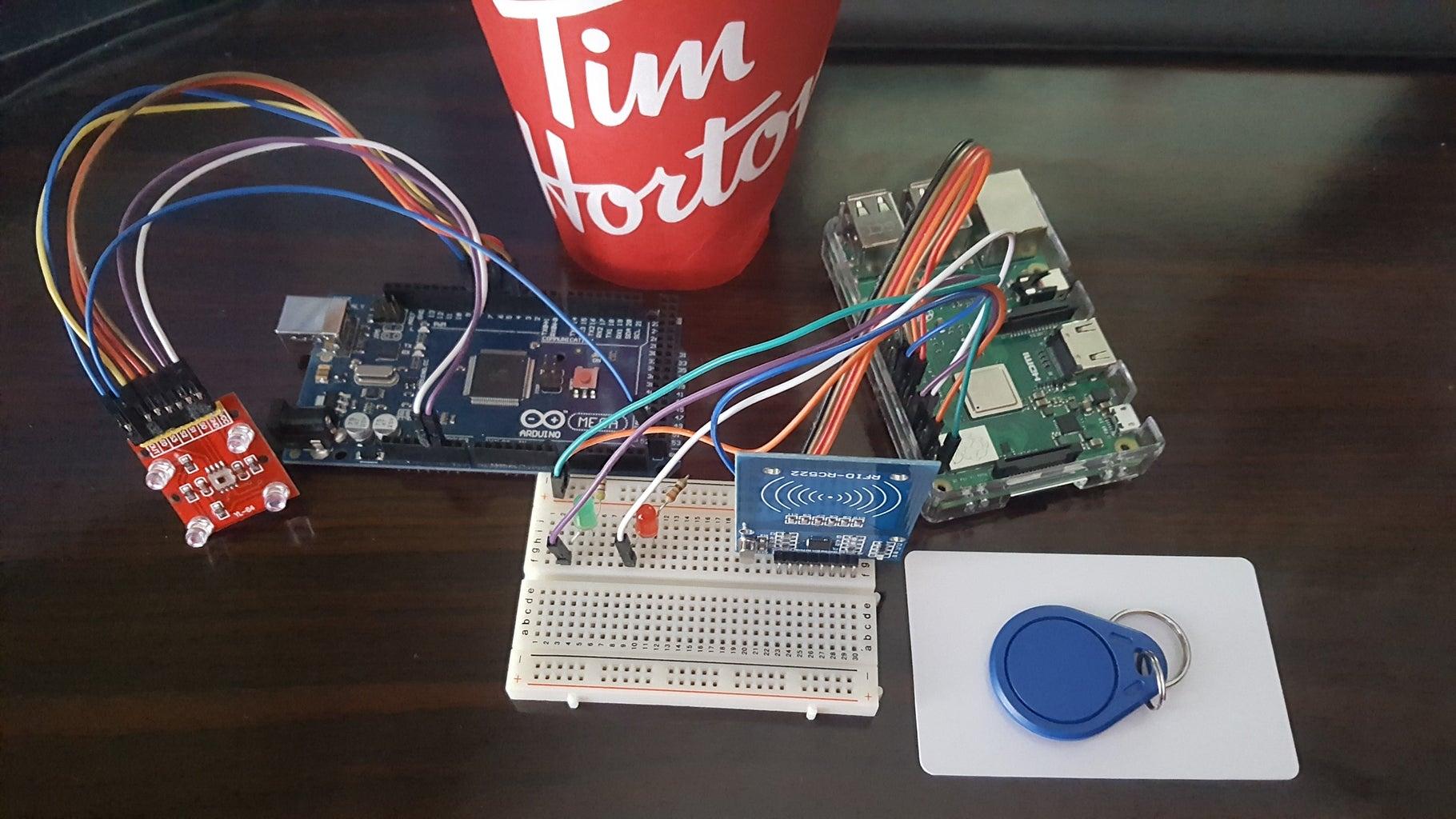 RFID + Colour Sensor IoT Project