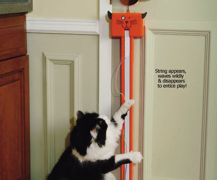 FLING-AMA-STRING ULTIMATE UPGRADE: MOTION SENSOR &TIMER HAS CAT TURN IT ON AND OFF USING AC POWER (NO BATTERIES) WITH NO HUMAN INPUT