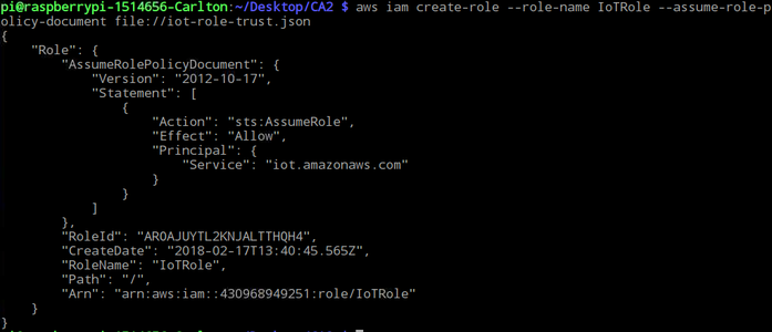 Creating Iot-role.trust.json File