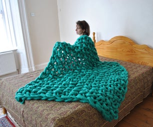 Chunky Knit Seed Blanket