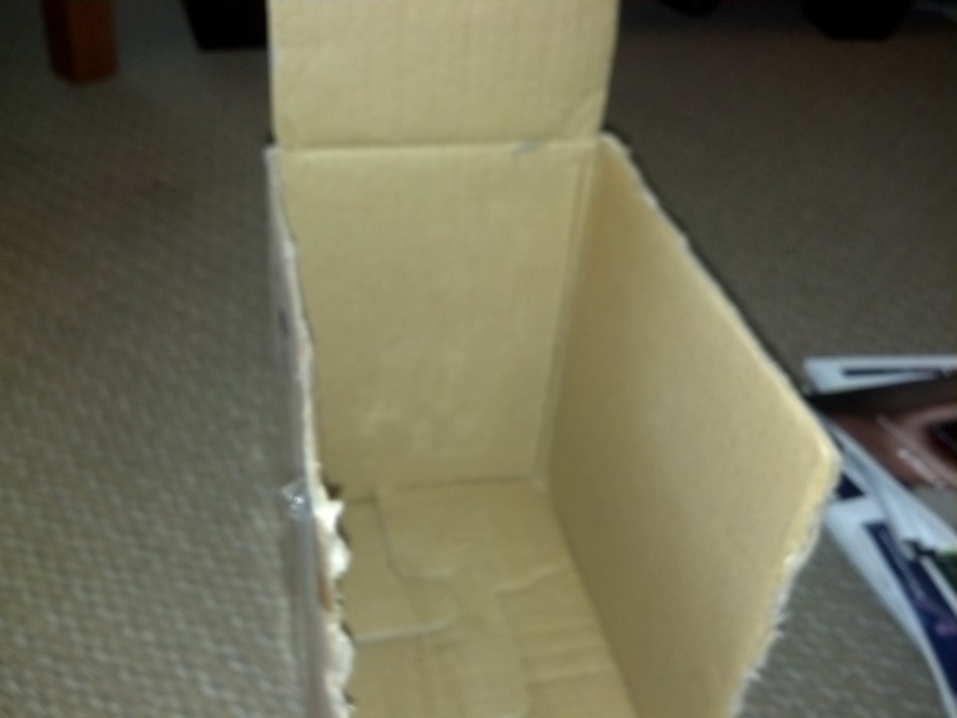 Cut Off the Top Flaps of the Box