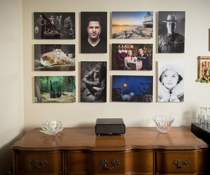 Easy Change Floating Photo Wall