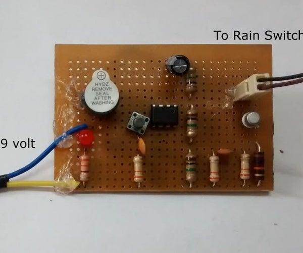 DIY Rain Alarm Using 555 Timer