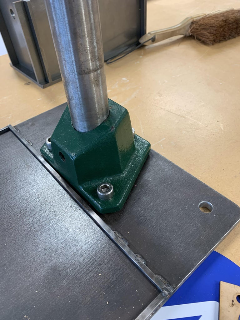 Securing the Modified Drill Press to the Base