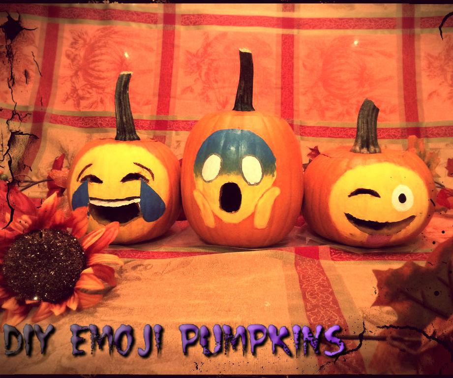 DIY Emoji Pumpkins